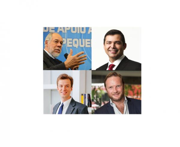 De cima para baixo, no sentido horário, os palestrantes Jorge Almeida Guimarães, Allan Costa, Peter Kronstrom e Arthur Igreja são alguns dos nomes que estarão na XV Feira Eletrometalmecanica de Inovação.